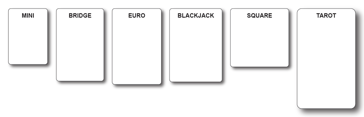 comparison of common card sizes