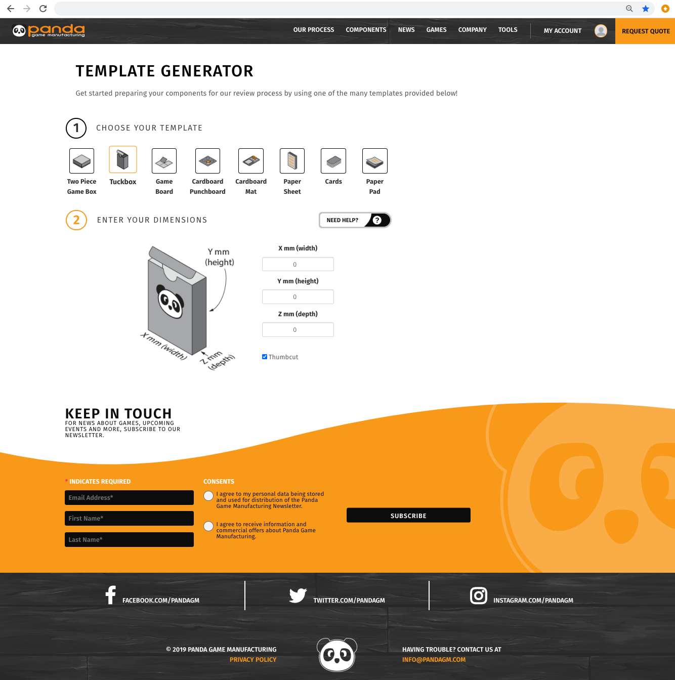 template generator